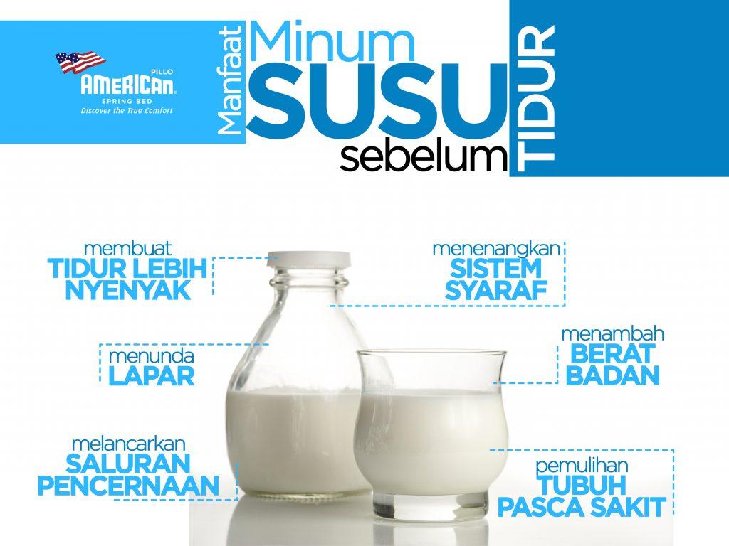 Manfaat Susu sebelum Tidur